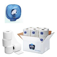 Toilet Paper 12 Pieces + Blue Tissue Holder Gift