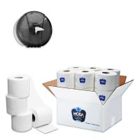 Toilet Paper 12 Pieces + Black Tissue Holder Gift
