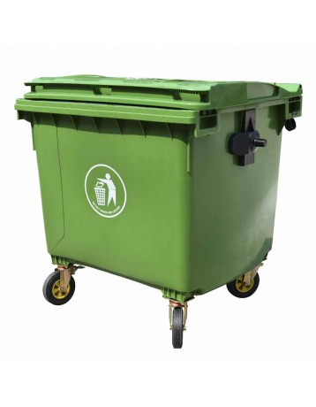 Chinese green municipal container 660 liters
