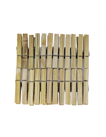 Wooden clothespins 24 pieces