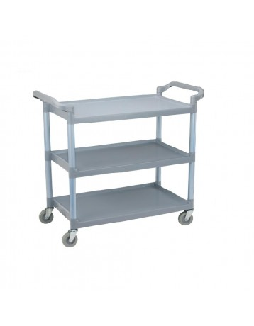 Plastic food cart 3 gray role