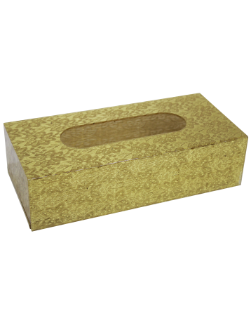 Gold tissue boxes
