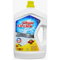 Circles disinfectant and floor cleaner, lemon 3 liter